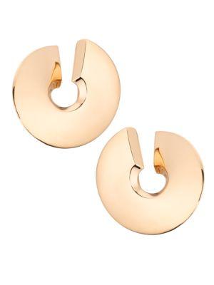 Verso 18K Rose Gold Large Clip-On Earrings