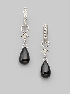 Jude Frances - Black Onyx, Diamond & 18k White Gold Earring Charms