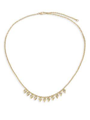 Rain Diamond & 18K Yellow Gold Pear Drop Necklace