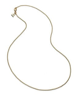 Temple St. Clair - 18K Yellow Gold Ball Chain Necklace/16