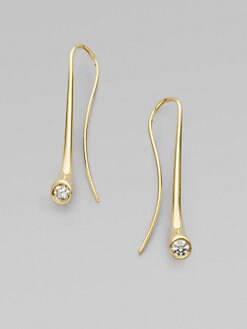 Georg Jensen - 18K Yellow Gold & Diamond Earrings