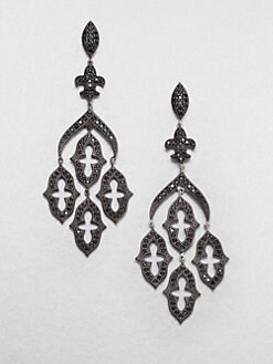 Jude Frances - Black Spinel Chandelier Earrings