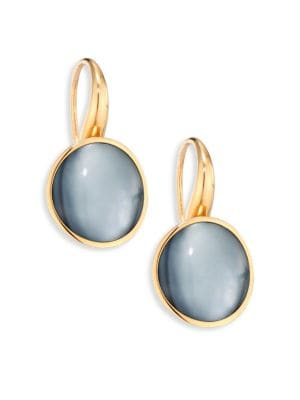 Giotto Piccolo Rock Crystal, Mother-Of-Pearl, Black Jade & 18K Rose Gold Earrings