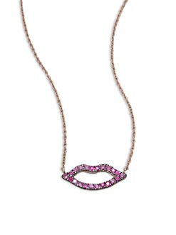 Diane Kordas - Pink Sapphire Kiss Necklace