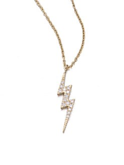 Diane Kordas - Diamond Lightning Bolt Necklace