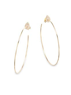Diane Kordas - Diamond Hoop Earrings/3
