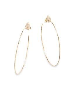 Diane Kordas - Diamond Hoop Earrings