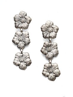 Buccellati - Blossom Sterling Silver Triple Drop Earrings