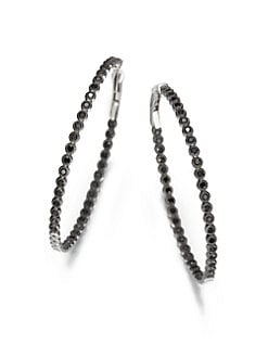 Jude Frances - Black Spinel Bezel Hoops