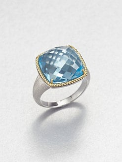 Jude Frances - Sky Blue Topaz, 18K Gold & Sterling Silver Ring