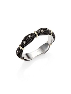 Jude Frances - Grey Diamond, Sterling Silver and 18K Yellow Gold Ring