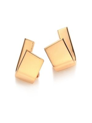 VHERNIER Diapason 18K Rose Gold Clip-On Earrings