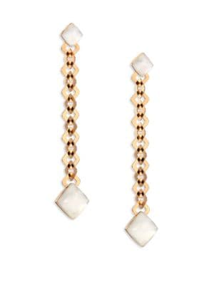 VHERNIER Pan Di Zucchero Sunflower Quartz, Mother-Of-Pearl & 18K Rose Gold Drop Earrings