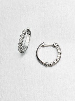 Jude Frances - White Sapphire Sterling Silver Hoop Earrings