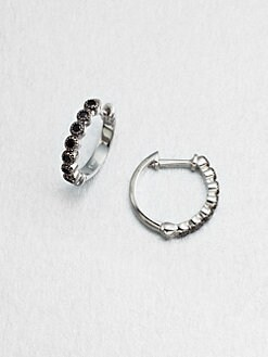 Jude Frances - Spinel Accented Sterling Silver Hoop Earrings