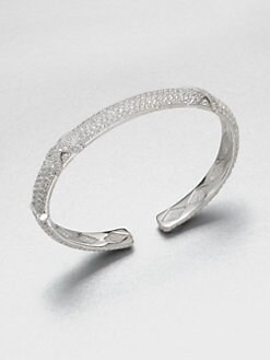 Jude Frances - White Sapphire Sterling Silver Bangle Bracelet