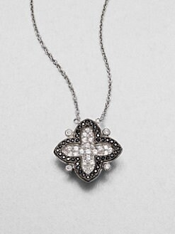 Jude Frances - Semi-Precious Multi-Stone Clover Pendant Necklace