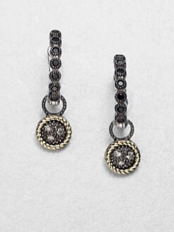 Jude Frances - Grey Diamond Accented 14K Gold & Sterling Silver Round Charms