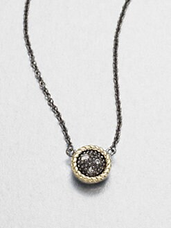 Jude Frances - Grey Diamond Accented 14K Gold & Sterling Silver Pendant Necklace