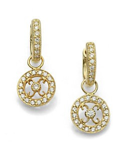 Jude Frances - Diamond and 18K Yellow Gold Earring Charms