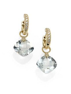 Jude Frances - Diamond, Green Amethyst and 18K Yellow Gold Earring Charms