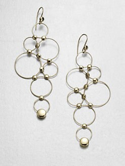 Georg Jensen - 18K Yellow Gold Bubble Earrings