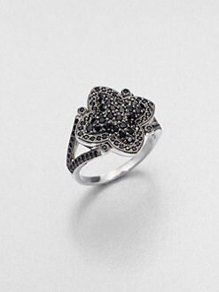 Jude Frances - Black Spinel Flower Ring
