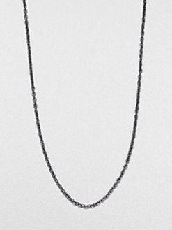Jude Frances - Black Rhodium Chain Necklace