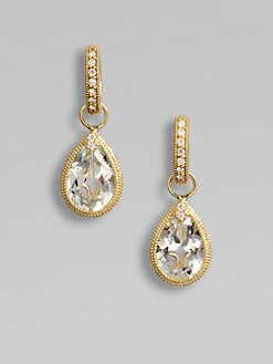 Jude Frances - White Topaz, Diamond & 18K Yellow Gold Earring Charms