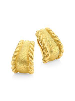 Sparks 18K Yellow Gold Hoop Clip-On Earrings