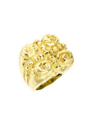 Sacred Spirals 18K Yellow Gold Large Ring