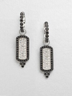 Jude Frances - Black Diamond Accented White Sapphire and Spinel Earring Charms