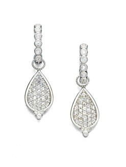 Jude Frances - White Sapphire & Sterling Silver Earring Charms