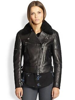 Belstaff - Avery Shearling & Leather Jacket