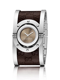 Gucci - Twirl Collection Watch/Brown Leather