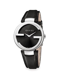 Gucci - Stainless Steel & Leather Watch