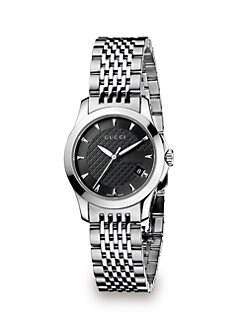 Gucci - G-Timeless Stainless Steel Bracelet Watch/Black