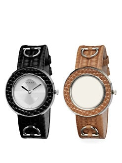 Gucci - U-Play Interchangeable Lizard Watch