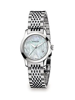 Gucci - Diamond & Stainless Steel Watch