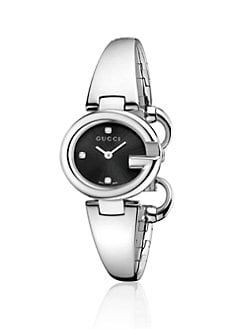 Gucci - Stainless Steel Bangle Watch/Black
