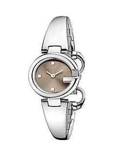Gucci - Stainless Steel Bangle Watch/Brown