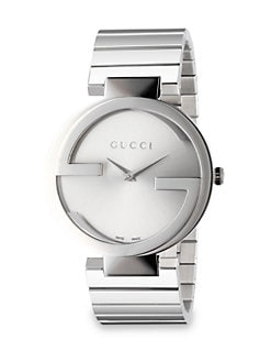 Gucci - Stainless Steel Double G Link Bracelet Watch