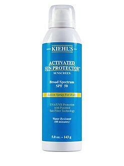 Kiehl's Since 1851 - Activated Sun Protector Spray Lotion for Body SPF 50/5 oz.