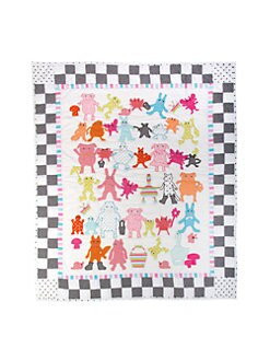 MacKenzie-Childs - Animal Parade Baby Quilt