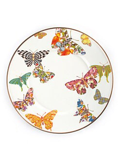 MacKenzie-Childs - Butterfly Salad Plate