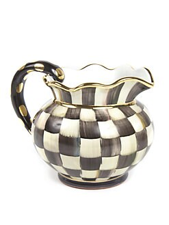 MacKenzie-Childs - Courtly Check Fluted Pitcher
