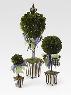 MacKenzie-Childs - Courtly Stripe Spring Topiary