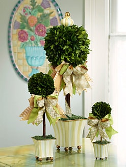 MacKenzie-Childs - Parchment Stripe Spring Topiary