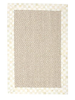 MacKenzie-Childs - Parchment Check Sisal Rug
