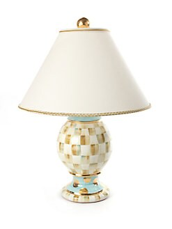 MacKenzie-Childs - Parchment Check Globe Lamp